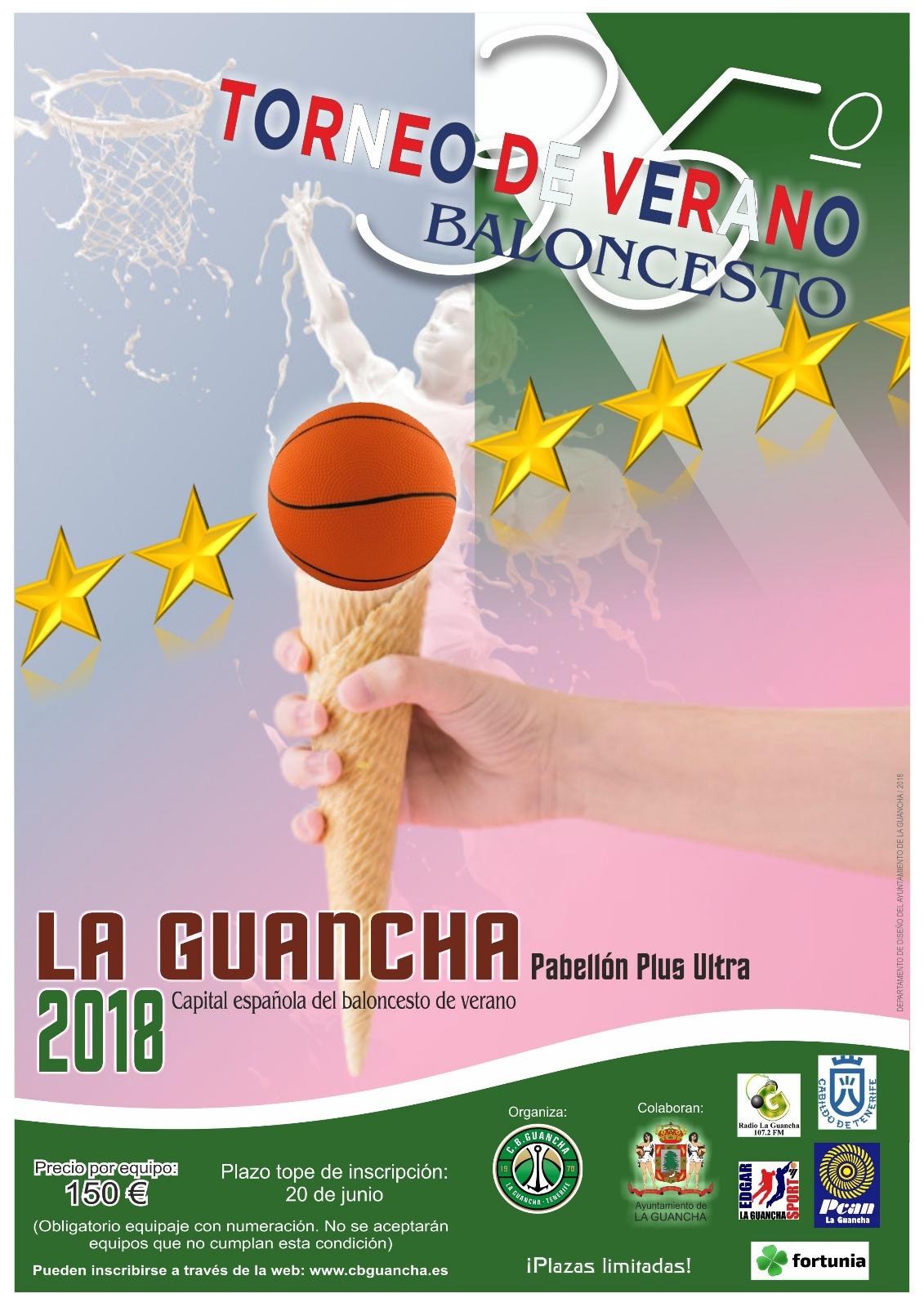Abierto el plazo de inscripción para el XXXV Torneo de Verano de Baloncesto, en La Guancha